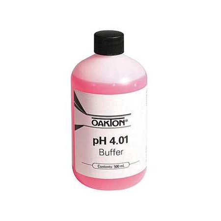 OAKTON 00654-00 Buffer Solution, pH, 4.01, 500 mL