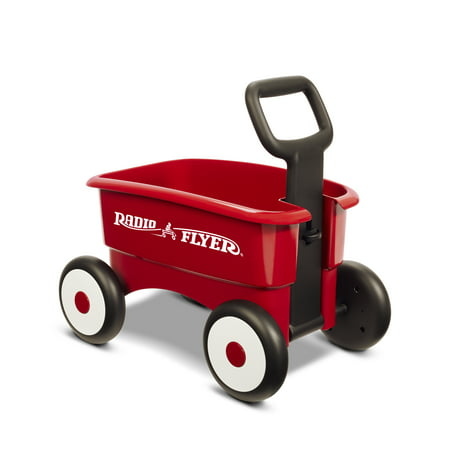 Radio Flyer, My 1st 2-in-1 Play Wagon Push Walker, Red (Play Rabbit Wagon)