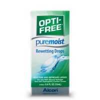 OPTI-FREE Puremoist Rewetting Drops for Contact Lenses, .4 Fl. Oz.
