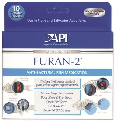API Fishcare AP16070 Furan - 2 Powder, 10 Packet