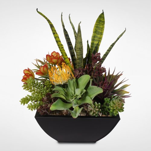 Brayden Studio Decorative Artificial Desktop Succulent Centerpiece Plant