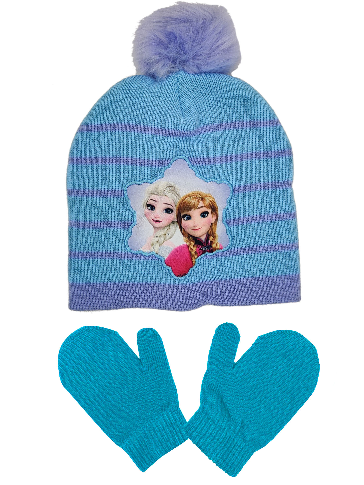 HAT /& MITTEN NEW DISNEY FROZEN ELSA GIRLS TOBBOGAN GLOVE SET
