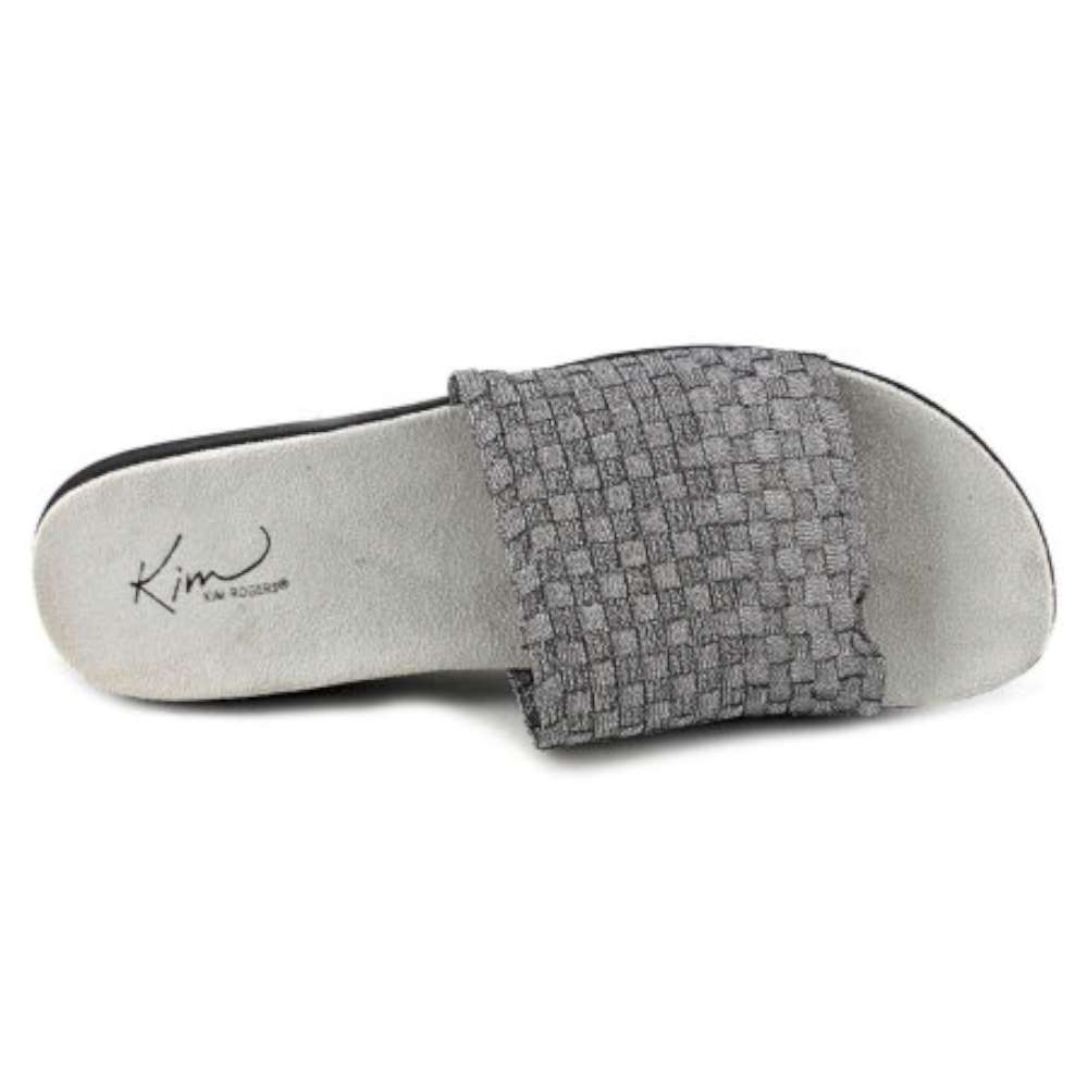 3390e7ac84b4 Kim Rogers Womens Finley Open Toe Casual Slide Sandals