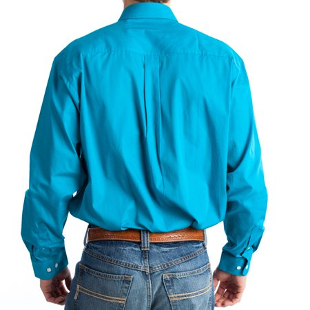 Cinch Apparel Mens   Pinpoint Oxford Long Sleeve Shirt 3X XXX-Large Teal