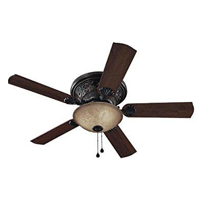 harbor breeze 52-in lynstead specialty bronze finish ceiling fan with light kit by