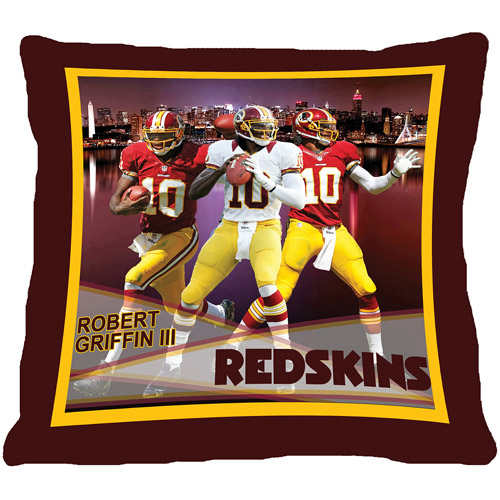"Biggshots Washington Redskins Robert Griffin III 18"" Toss Pillow"