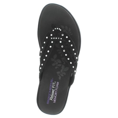 ebc445c3e77900 Skechers - Skechers Upgrades Be-Jeweled Women s Studded Thong Sandals Flip  Flops - Walmart.com
