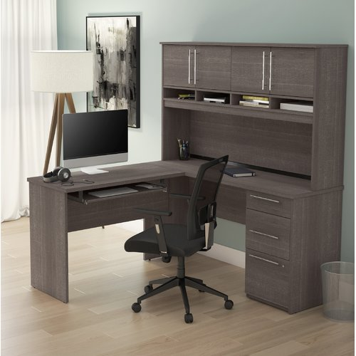 symple stuff altha plus l shaped computer desk with hutch walmart com rh walmart com l shaped computer desks with keyboard tray l-shaped computer desks for small spaces