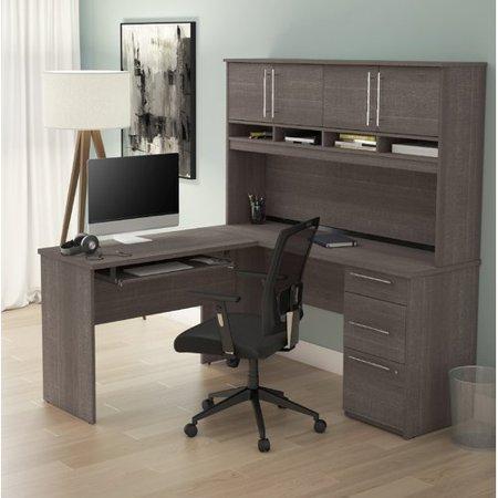 Premium Plus Hutch - Symple Stuff Altha Plus L-Shaped Computer Desk with Hutch