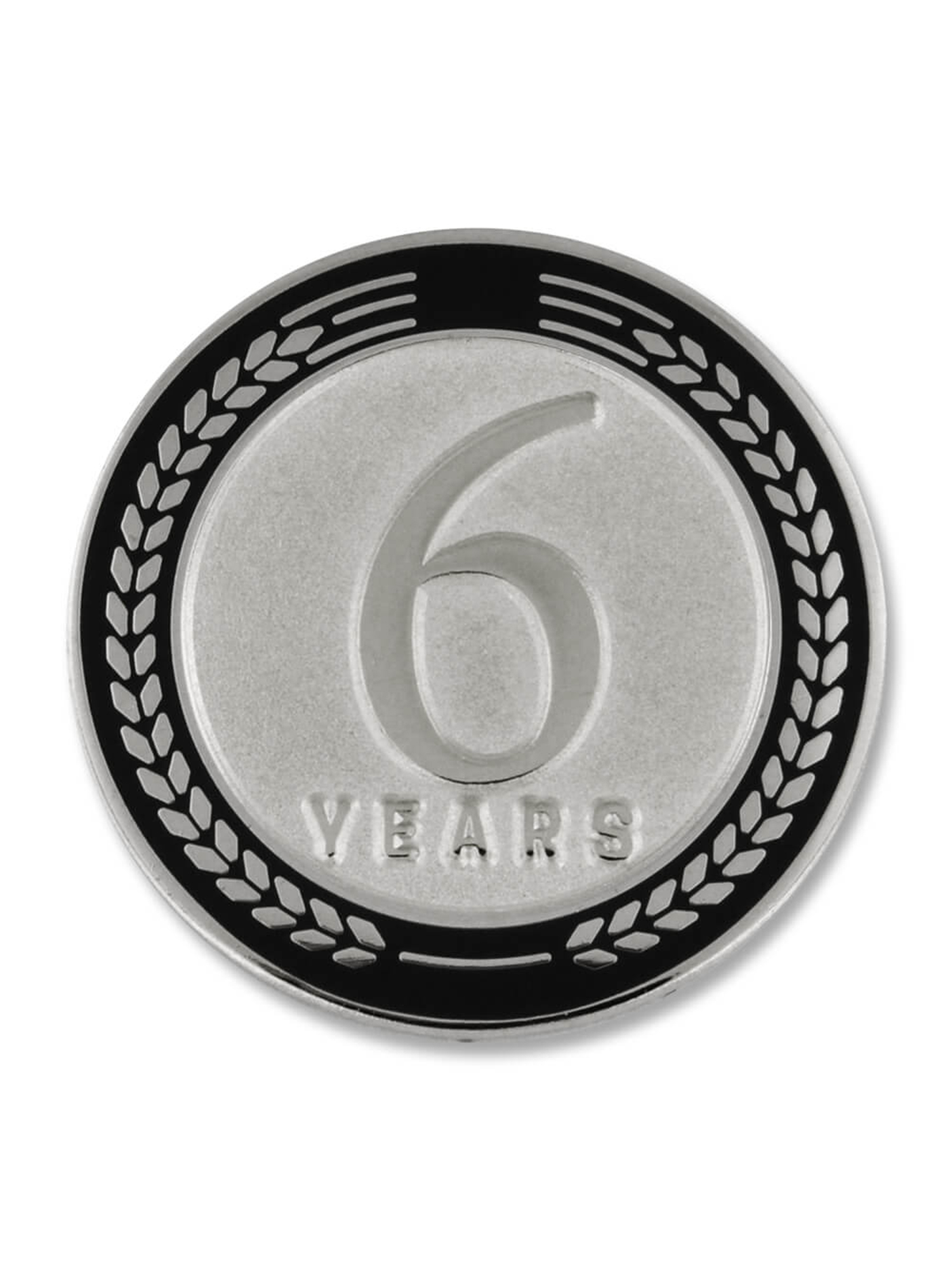 PinMart 33 Years of Service Award Employee Recognition Gift Lapel Pin Black