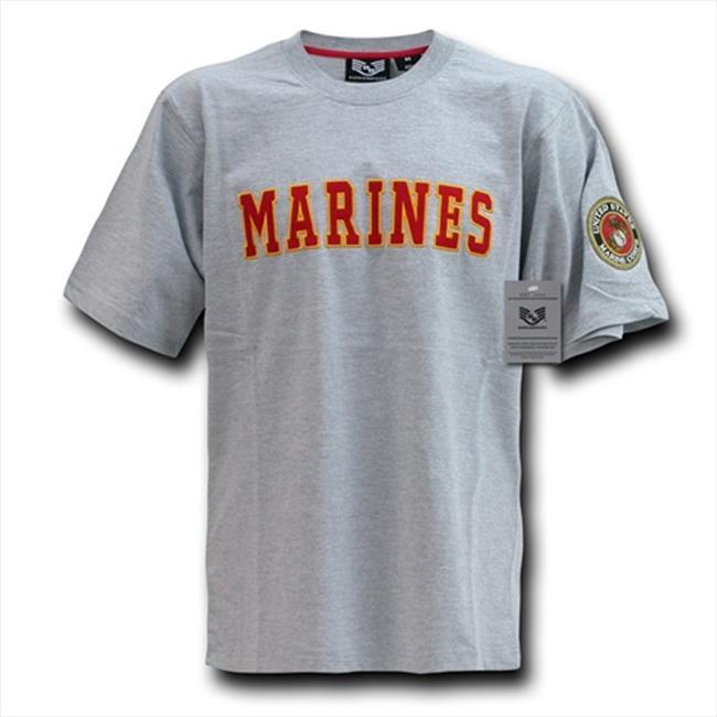 T-shirt domination rapide R17-MAR-HGR-03 Applique texte, Marines, Gris, Grand - image 1 de 1