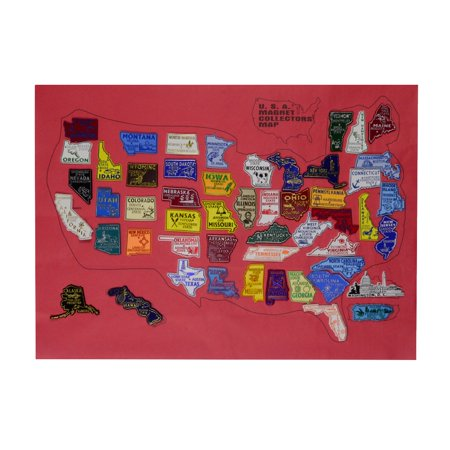 United States All 50 US State Fridge Magnets Puerto Rico PR Magnet U.S. Map Set (State Fridge Magnets)