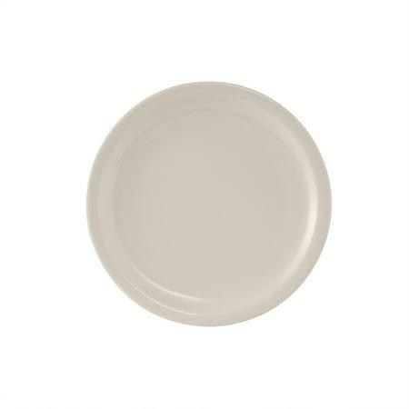 Nevada 9 inch Plate Narrow Rim in Eggshell American White/Case of -