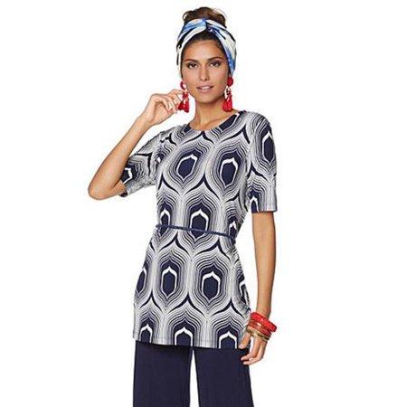 NIKKI POULOS Size XL Elana Pants and Top NAVY PRINT 2 piece Set -  Walmart.com 592531b27