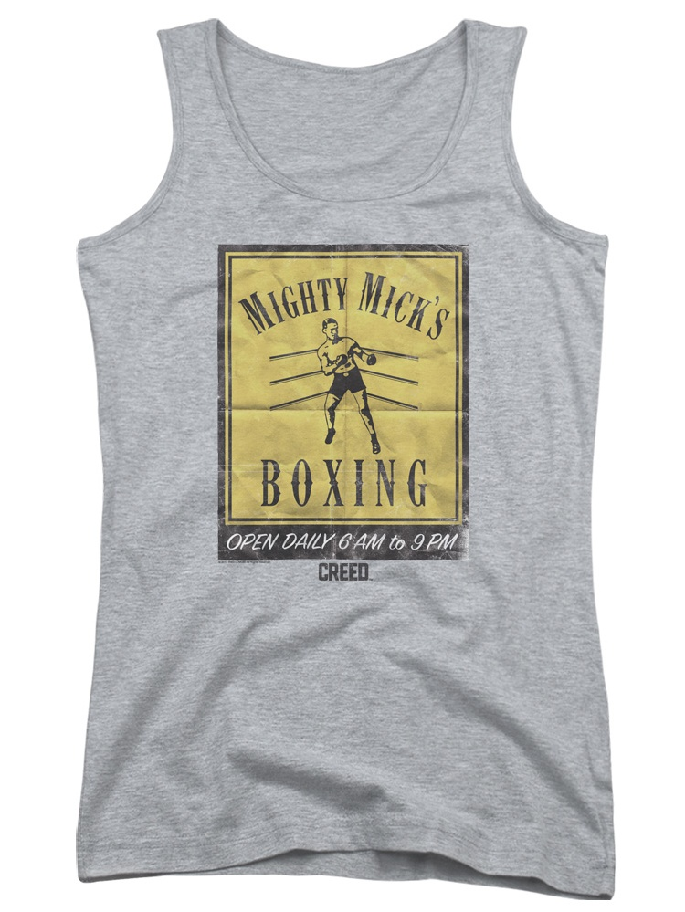 Creed Drama Boxing Sports Movie Mighty Mick's Gym Poster Juniors Tank Top Shirt