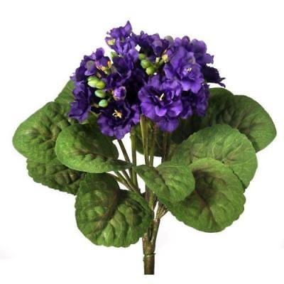 Silk African Violet Plant In Purple 12 Tall