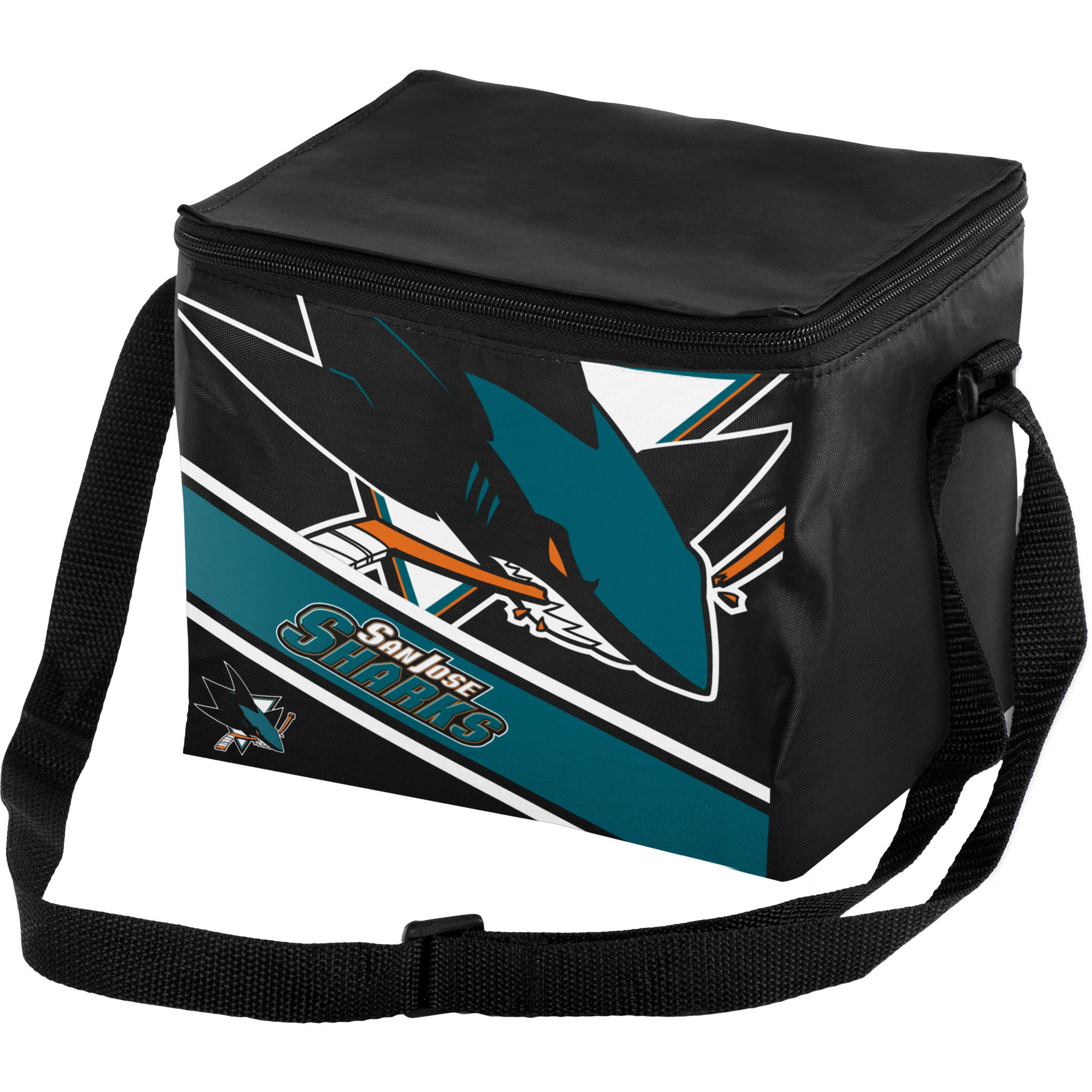 Forever Collectibles Big Logo Stripe 6 Pack Cooler, San Jose Sharks