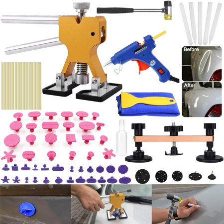 Pro Paintless Dent Removal Repair Puller Tools Kits Dent Lifter Car Hail Damage Remover Kits - Tools Bag