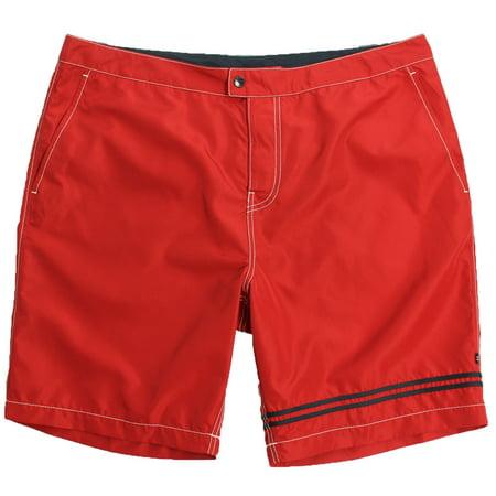 New  New Mens Nautica Quik Dry Red Colorblock Swim Trunks Board Size 40W 5199-4