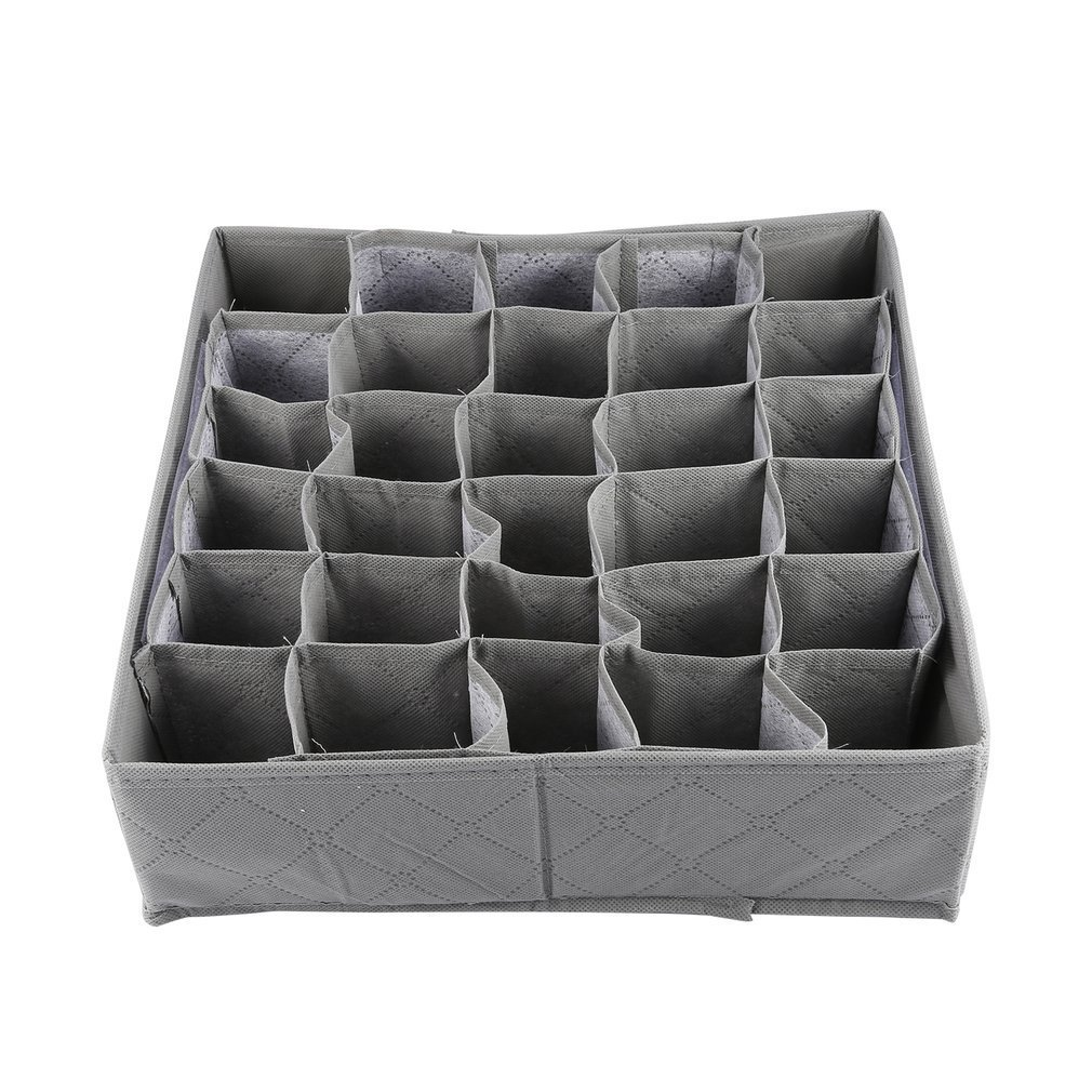 Sock Underwear Drawer New Arrival Wholesale Price 30 Cell Bamboo Charcoal Underwear Ties Socks Drawer Closet Organizer Storage Box Fit For Collection