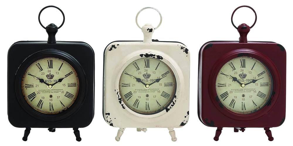 Click here to buy 3-Pc Yangtze Table Clock Set by Benzara Inc.