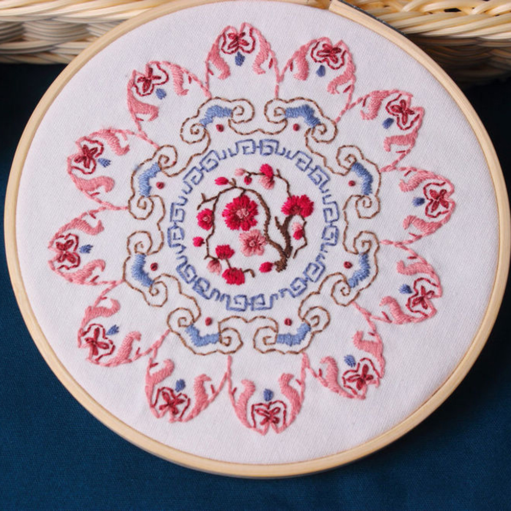 DIY 3D Embroidery For Beginner Needlework Kit Cross Stitch Handmade Arts Crafts