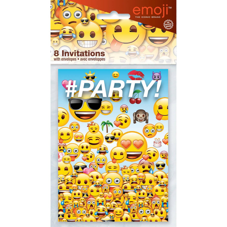 Emoji Invitations 8ct Walmart Com