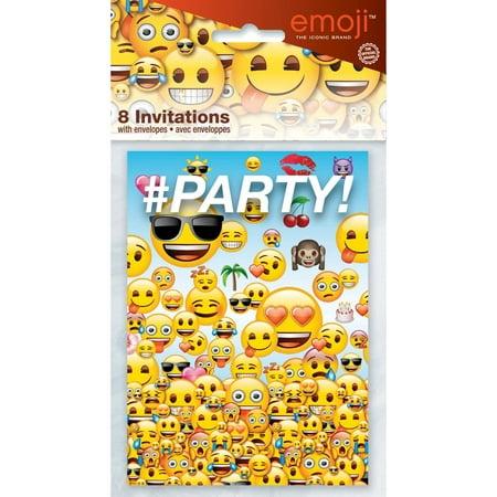 Emoji Invitations, 8ct for $<!---->