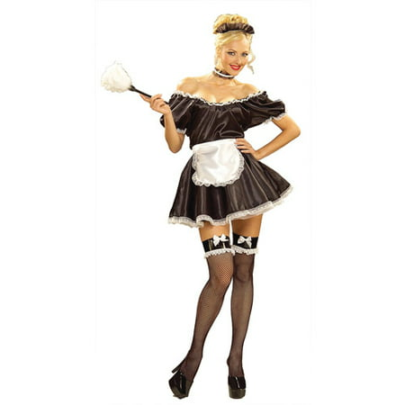 Fifi the French Maid Adult Halloween Costume - One Size - Deadpool Maid Costume