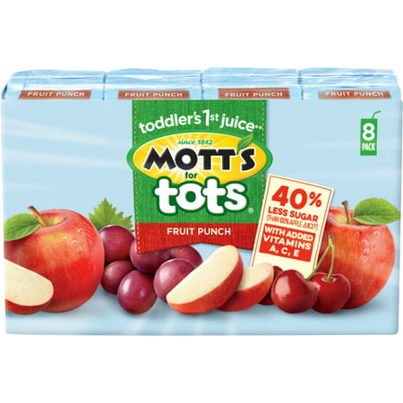 Halloween Fruit Punch Alcoholic (Mott's for Tots Fruit Punch Juice Drink, 6.75 Fl Oz Boxes, 8)