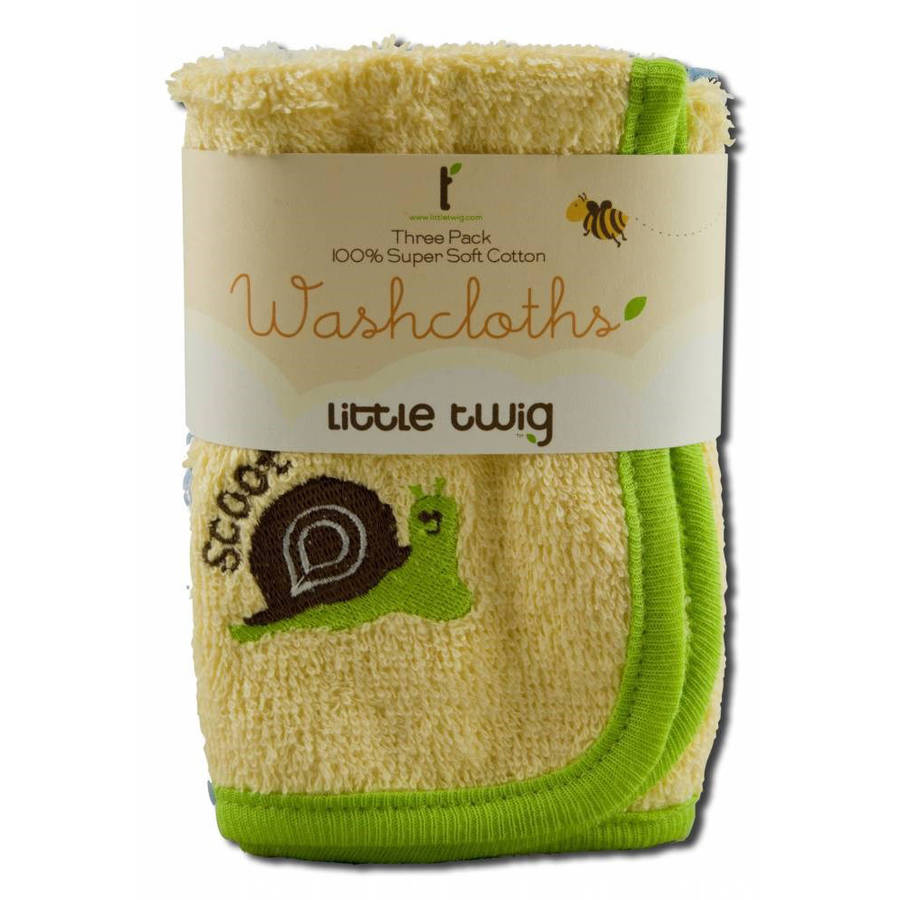 Little Twig Accessories Washcloth Triple Pack, 1 ct by Little Twig