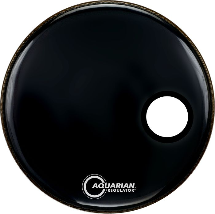 Aquarian RSM20BK Regulator 20 Front Resonant Black Bass Drum Head by Aquarian