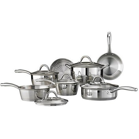 Tramontina Gourmet Stainless Steel Tri-Ply Base Cookware Set, 12