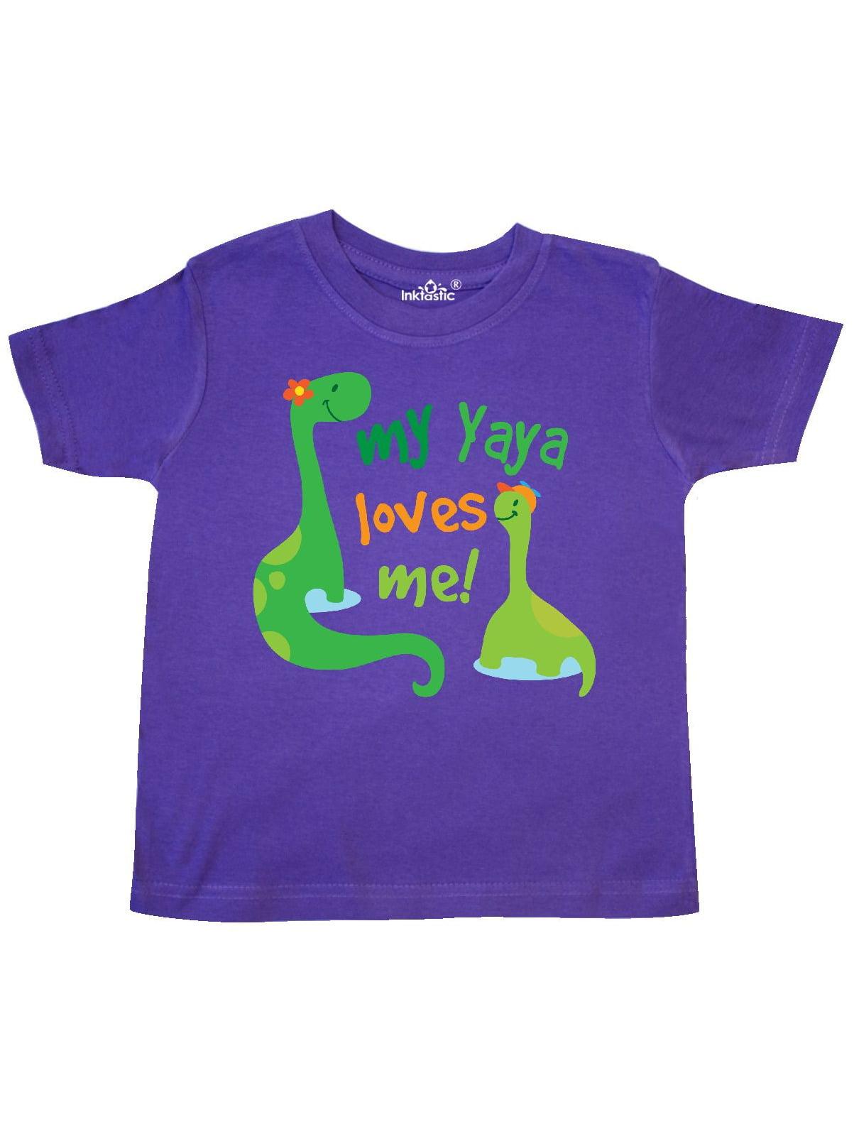 My Yaya Loves Me Grandson Gift Toddler T-Shirt