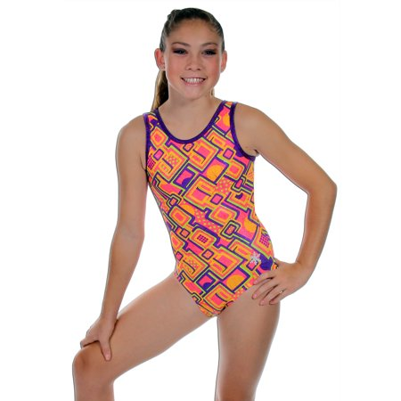 a999ca4fff3 Orange Half Pipe Gymnastics or Dance Leotard (Child Small) - Walmart.com