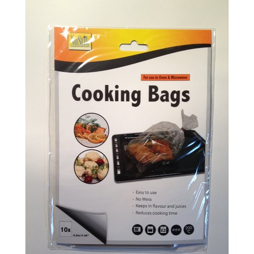 Cooks Innovations 3 lb No-Mess Sealed Oven Cooking Bags for Moist Flavorful Food (Set of 10)
