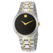 Movado Black Dial Two Tone Stainless Steel Mens Watch 0606958