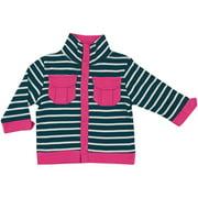 Newborn Baby Girls Lightweight Jacket - Navy Stripe