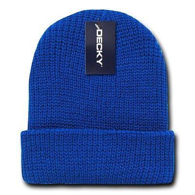 Cuffed Watch Cap - Royal Blue Watch Cap Beanie Hat Ski Military Warm Winter Cuff Knit Hats Beanies