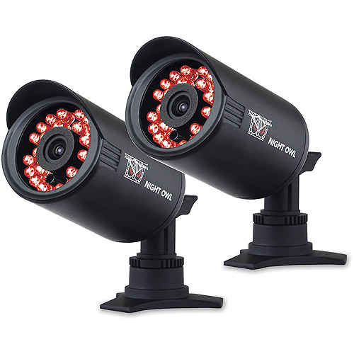 Night Owl Indoor/Outdoor 650 TVL Security Bullet Cameras with 50' of Night Vision, 2pk