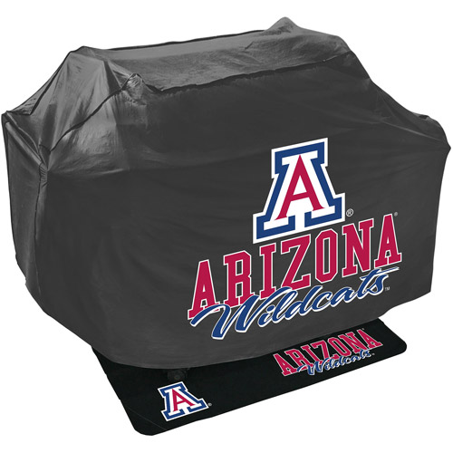 Mr. Bar-B-Q NCAA Grill Cover and Grill Mat Set, University of Arizona Wildcats