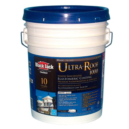 Black jack 5530-1-30 siliconized elastomeric roof coating, 4.75 gallon
