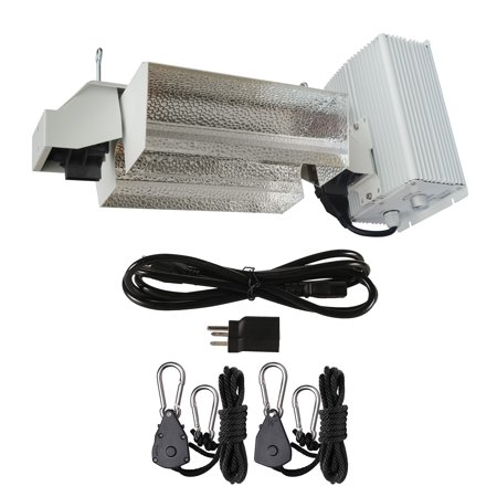 - Hydro Crunch 1000-Watt Double Ended HPS Pro Series Open Style Grow Light System 120-Volt/240-Volt