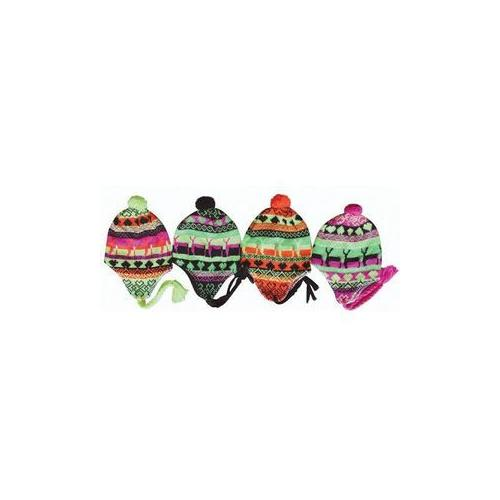 Womens Neon Ear Cover Knit Hat 4 Neon Colors (Pack of 60)