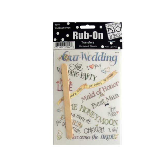 Bulk Buys CG249-48 Wedding Sayings Rub-On Transfers