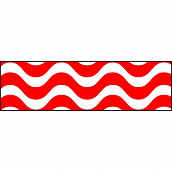 Trend Enterprises Inc. T-85155 Wavy Red Bolder Borders