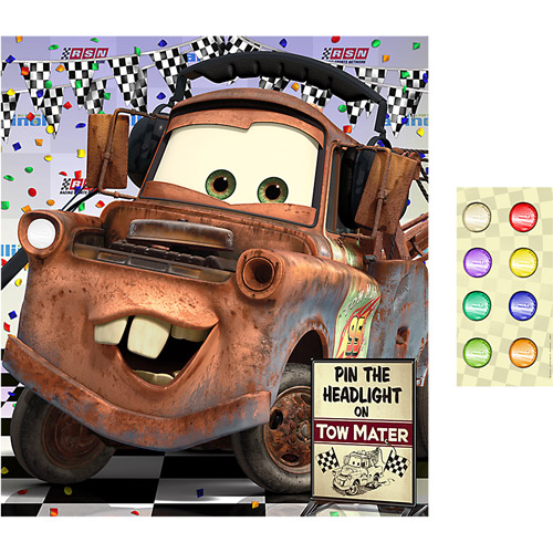 Hallmark Party Disney Cars Party Game Pin the Headlight