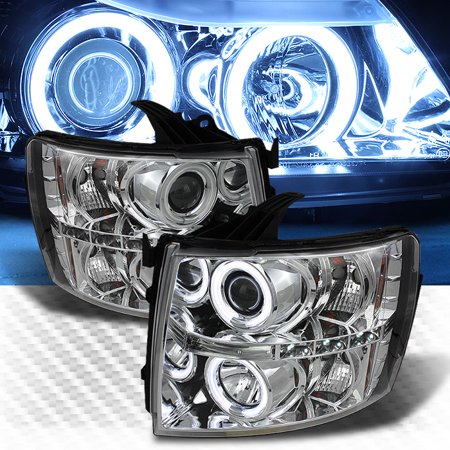 Ccfl Halo 2007 2017 Chevy Silverado Led Projector Headlights Head Lights Lamp Pair L R 2008 2009 2010