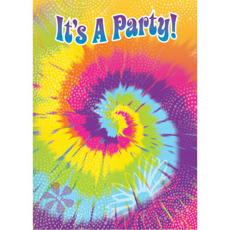 tie dye invitations 8 count walmart com
