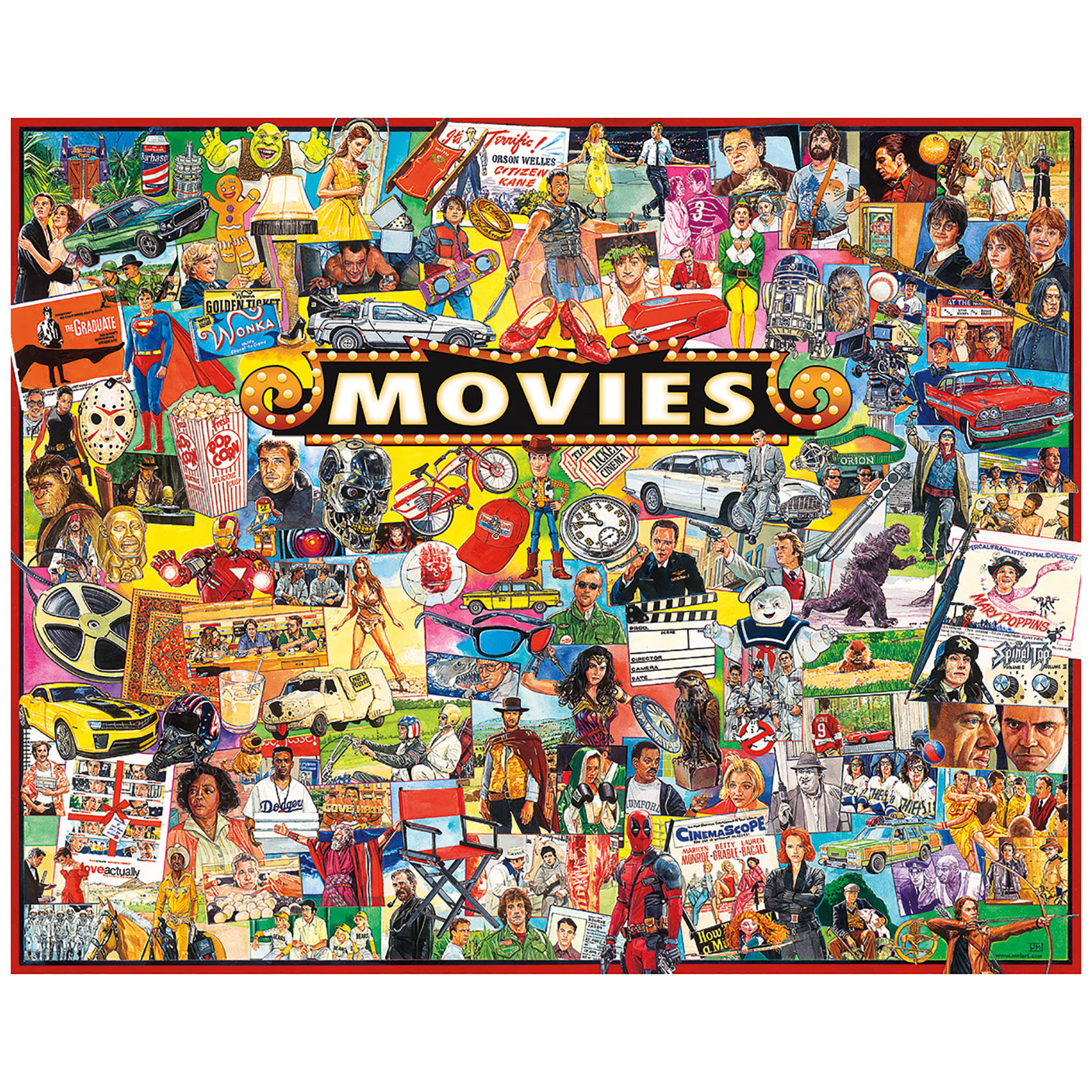 White Mountain Puzzles The Movies 1000 Piece Jigsaw Puzzles by White Mountain Puzzles